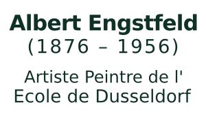 Albert Engstfeld, 1876 - 1956, Kunstmaler